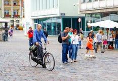 άτομο ποδηλάτων Στοκ Εικόνα