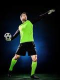Άτομο ποδοσφαίρου τερματοφυλακάων Στοκ φωτογραφίες με δικαίωμα ελεύθερης χρήσης