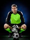 Άτομο ποδοσφαίρου τερματοφυλακάων Στοκ Εικόνες