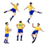 Άτομο ποδοσφαιριστών ποδοσφαίρου Στοκ εικόνες με δικαίωμα ελεύθερης χρήσης