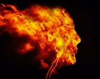 Άτομο πυρκαγιάς απεικόνιση αποθεμάτων
