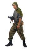 άτομο πυροβόλων όπλων κάλ&upsi στοκ εικόνες