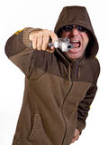 άτομο πυροβόλων όπλων Στοκ Εικόνες