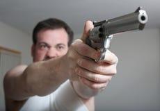 άτομο πυροβόλων όπλων Στοκ εικόνες με δικαίωμα ελεύθερης χρήσης