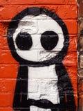 Άτομο ραβδιών γκράφιτι Στοκ εικόνα με δικαίωμα ελεύθερης χρήσης