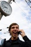 άτομο ρολογιών κινητό Στοκ Εικόνες