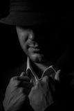 Άτομο σε ένα καπέλο Στοκ εικόνα με δικαίωμα ελεύθερης χρήσης