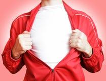 Άτομο σε ένα κόκκινο πουλόβερ Στοκ φωτογραφία με δικαίωμα ελεύθερης χρήσης