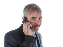 Άτομο με το τηλέφωνο Στοκ Φωτογραφίες