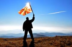 Άτομο σημαιών Στοκ Φωτογραφία