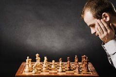 άτομο σκακιού χαρτονιών Στοκ εικόνα με δικαίωμα ελεύθερης χρήσης