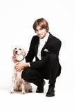 άτομο σκυλιών Στοκ Φωτογραφίες