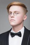 Άτομο στα γυαλί μύτης Στοκ εικόνα με δικαίωμα ελεύθερης χρήσης