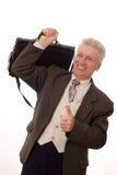Άτομο στην άσπρη ανασκόπηση Στοκ εικόνα με δικαίωμα ελεύθερης χρήσης