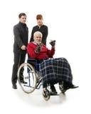 Άτομο στην αναπηρική καρέκλα στοκ εικόνες