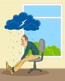 Άτομο στην κατάθλιψη απεικόνιση αποθεμάτων