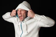 Άτομο στην κουκούλα Στοκ εικόνα με δικαίωμα ελεύθερης χρήσης