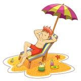 Άτομο στην παραλία. ελεύθερη απεικόνιση δικαιώματος