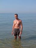 Άτομο στην παραλία Στοκ Φωτογραφία