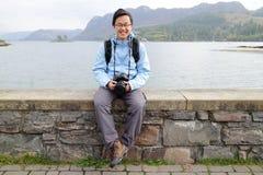 Άτομο στην περιοχή λιμνών της Αγγλίας Στοκ φωτογραφία με δικαίωμα ελεύθερης χρήσης