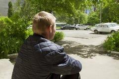 Άτομο στην περιοχή συλλογής Στοκ φωτογραφίες με δικαίωμα ελεύθερης χρήσης