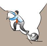 Άτομο στην τρύπα χρέους Στοκ Εικόνες