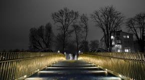 Άτομο στη γέφυρα Στοκ φωτογραφία με δικαίωμα ελεύθερης χρήσης