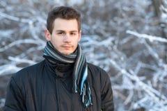 Άτομο στη φύση μια παγωμένη ημέρα Στοκ φωτογραφίες με δικαίωμα ελεύθερης χρήσης