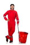 Άτομο στις κόκκινες φόρμες Στοκ εικόνες με δικαίωμα ελεύθερης χρήσης