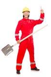 Άτομο στις κόκκινες φόρμες Στοκ Εικόνες