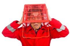 Άτομο στις κόκκινες φόρμες Στοκ εικόνα με δικαίωμα ελεύθερης χρήσης