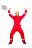 Άτομο στις κόκκινες φόρμες Στοκ φωτογραφίες με δικαίωμα ελεύθερης χρήσης