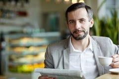 Άτομο στον καφέ Στοκ Εικόνα