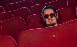 Άτομο στον κινηματογράφο στοκ φωτογραφία
