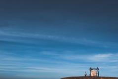 Άτομο στον ουρανό Στοκ Φωτογραφίες