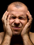 Άτομο στον πόνο Στοκ εικόνα με δικαίωμα ελεύθερης χρήσης