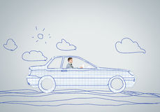 Άτομο στο αυτοκίνητο Στοκ εικόνες με δικαίωμα ελεύθερης χρήσης