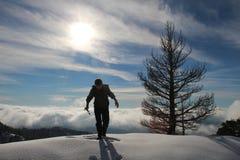Άτομο στο βουνό Orjen Στοκ Εικόνες