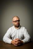 Άτομο στο λευκό Στοκ φωτογραφία με δικαίωμα ελεύθερης χρήσης