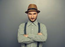 Άτομο στο ελεγχμένο πουκάμισο Στοκ φωτογραφίες με δικαίωμα ελεύθερης χρήσης