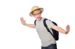 Άτομο στο καπέλο σαφάρι Στοκ Φωτογραφία