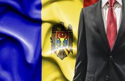 Άτομο στο κοστούμι από τη Μολδαβία στοκ εικόνες