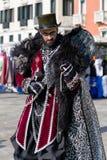 Άτομο στο κοστούμι στη Βενετία carneval το 2018, Ιταλία Στοκ Εικόνες