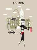 Άτομο στο Λονδίνο. Στοκ Εικόνες