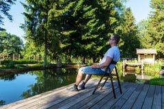 Άτομο στο πάρκο στοκ εικόνες