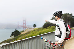 Άτομο στο Σαν Φρανσίσκο στοκ φωτογραφία με δικαίωμα ελεύθερης χρήσης
