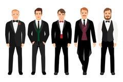 Άτομο στο σύνολο κοστουμιών διανυσματική απεικόνιση