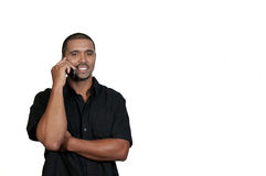Άτομο στο τηλέφωνο στοκ εικόνα με δικαίωμα ελεύθερης χρήσης