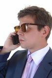 Άτομο στο τηλέφωνο κυττάρων. Στοκ φωτογραφία με δικαίωμα ελεύθερης χρήσης