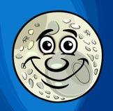 Άτομο στο φεγγάρι που λέει τα κινούμενα σχέδια διανυσματική απεικόνιση